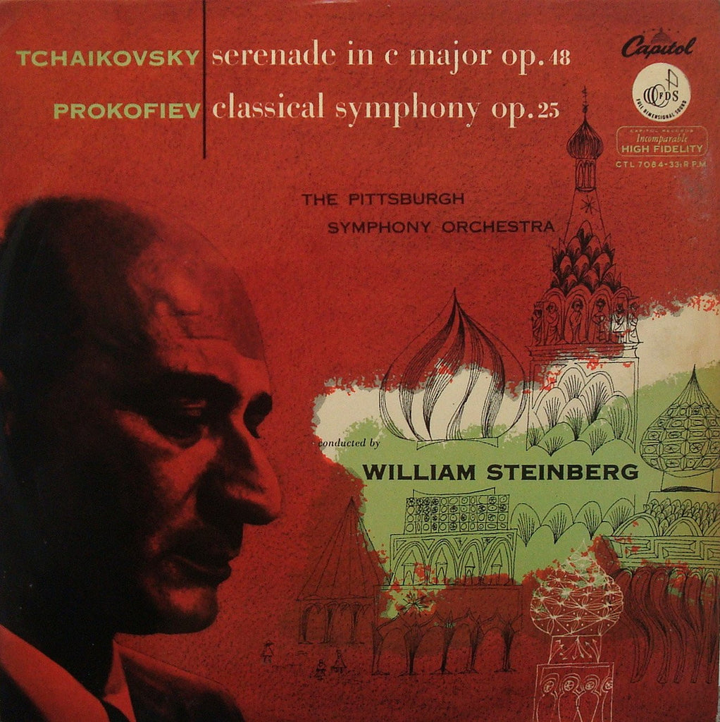 "LP - Steinberg: Prokofiev ""Classical"" & Tchaikovsky String Serenade: Capitol CTL 7084"