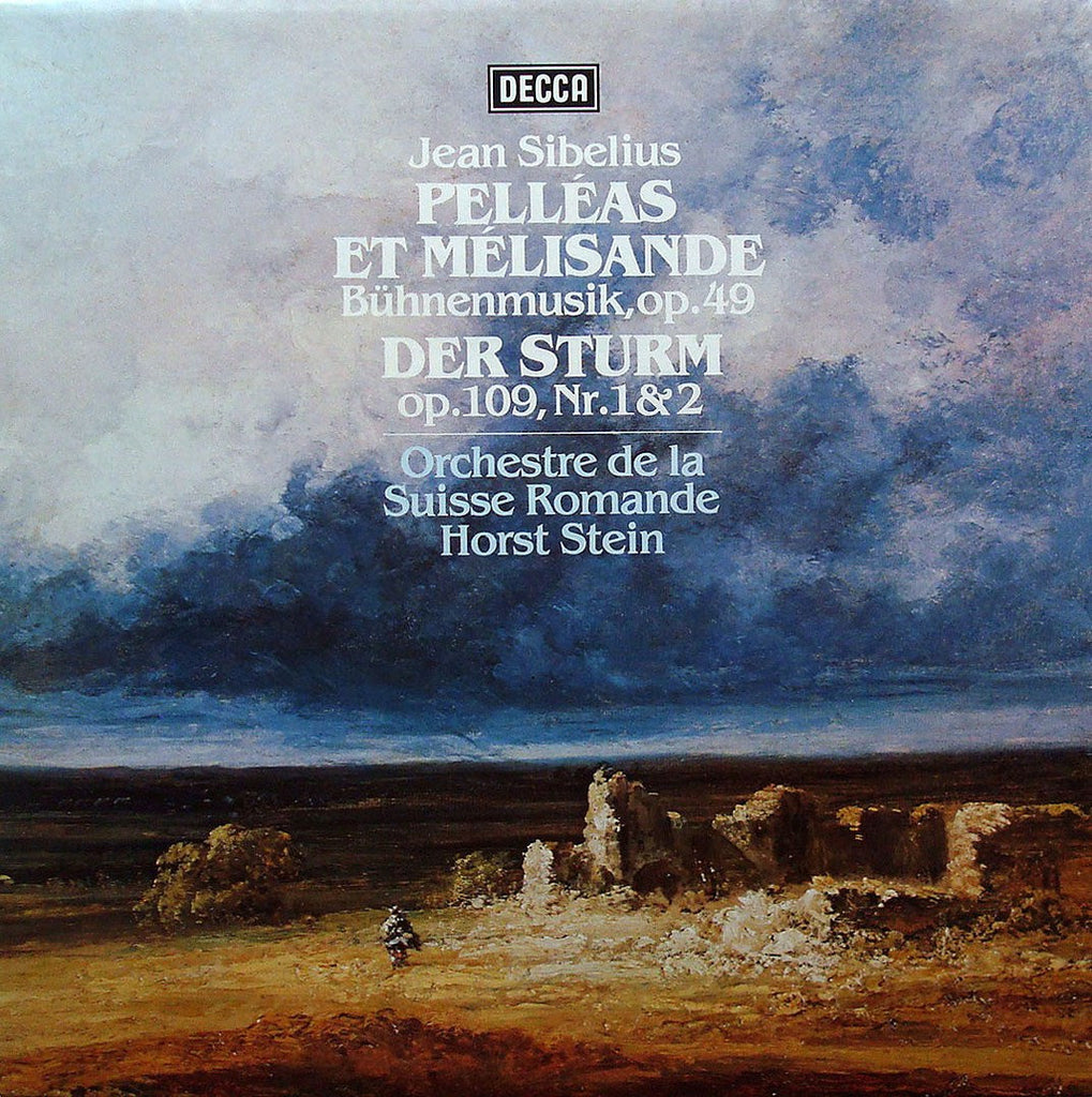 LP - Stein/OSR: Sibelius Pelleas Et Melisande + The Tempest (rec. 1978) - Decca 6.42542 AS