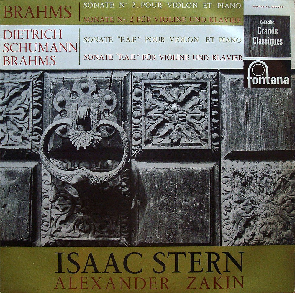 LP - Stern: Brahms Vn Son 2 + Compl FAE Son - Fontana 700.048 CL (early French Pr.)
