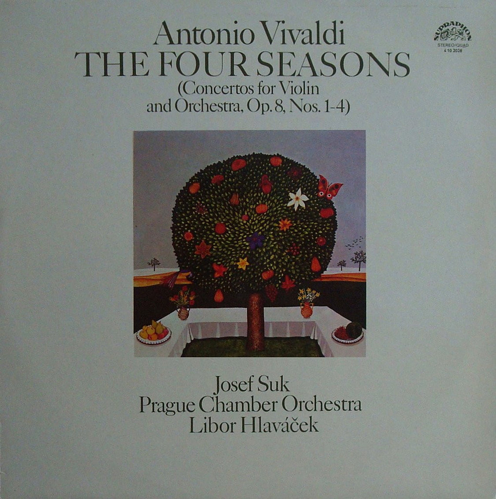 LP - Josef Suk/Prague CO: Vivaldi The 4 Seasons (rec. 1975) - Supraphon 4 10 2028