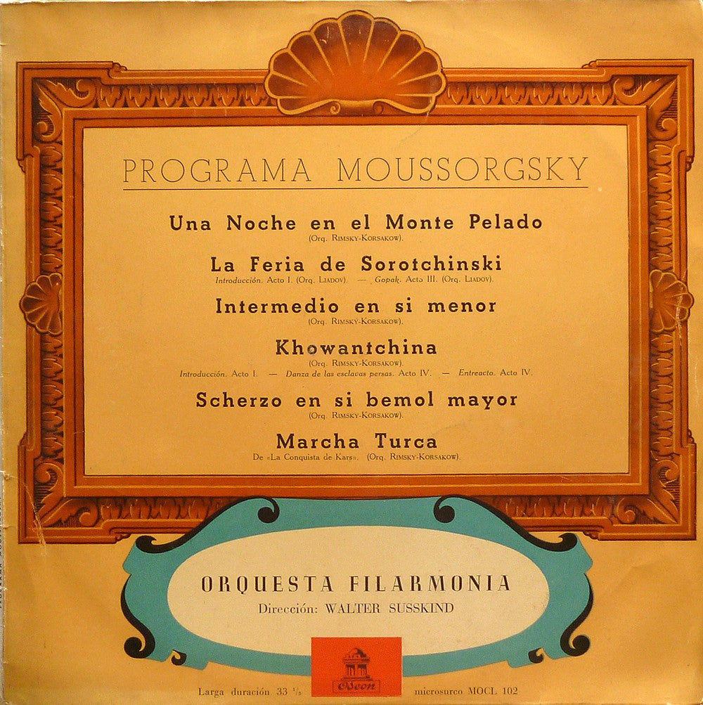 LP - Susskind/Philh: Mussorgsky Orch. Works - Early Spanish Odeon MOCL 102