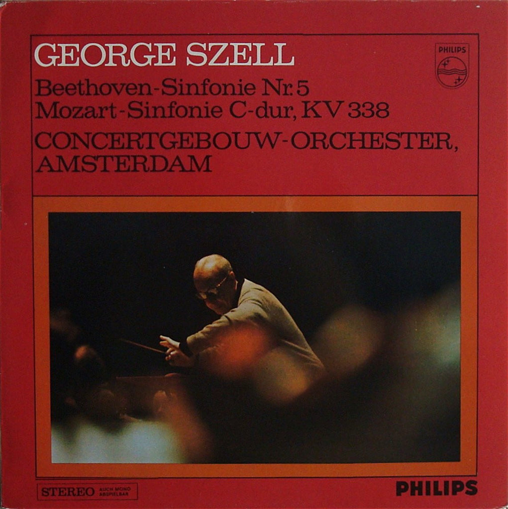 LP - Szell: Beethoven Symphony No. 5 + Mozart Symphony No. 34 - Philips 802 469 LY