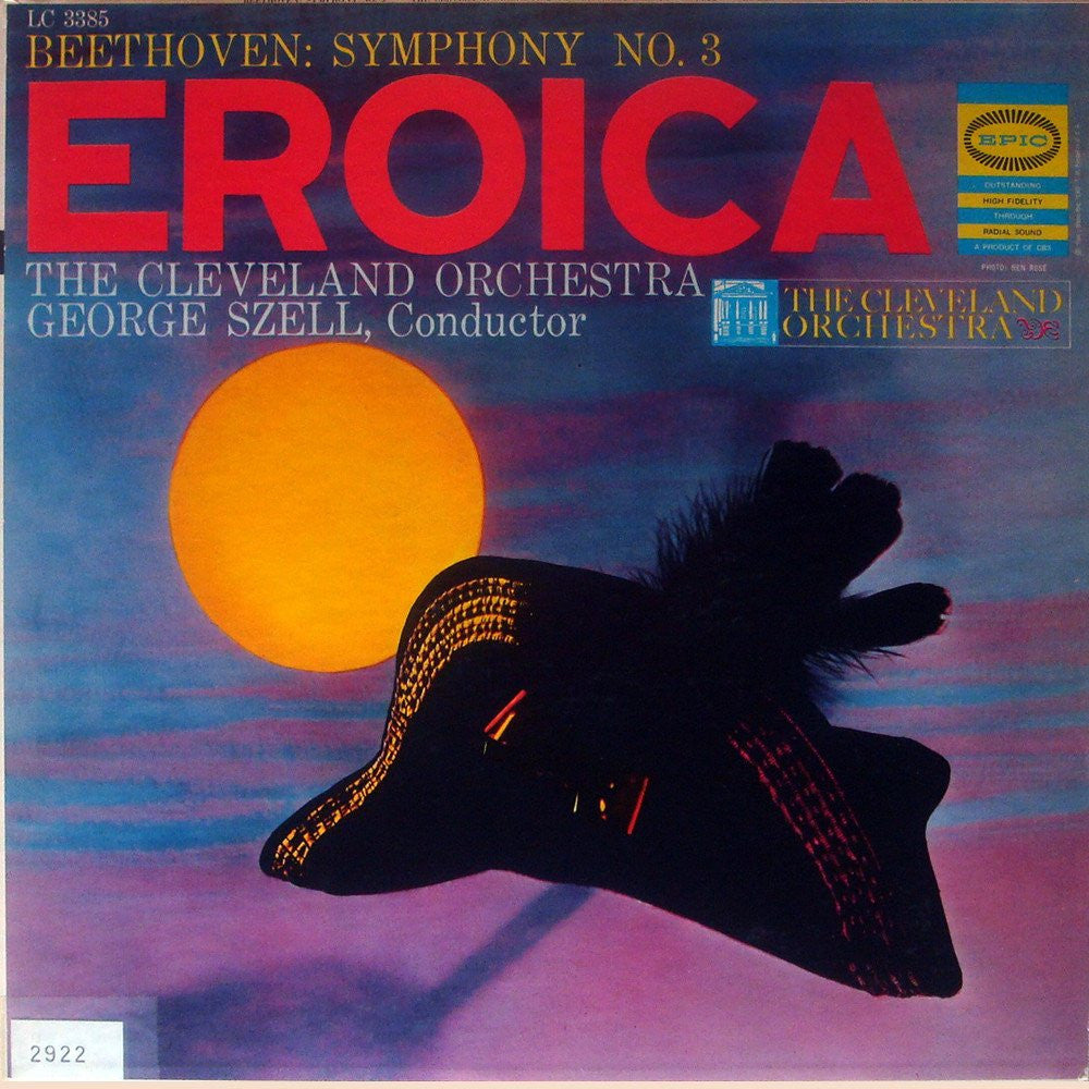 "LP - Szell/Cleveland Orchestra: Beethoven Symphony No. 3 Op. 55 ""Eroica"" - Epic LC 3855"