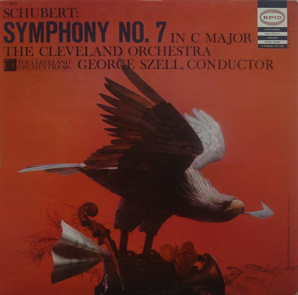 "LP - Szell: Schubert Symphony No. 9 In C Major D. 944 ""Great"" - Epic LC 3431"