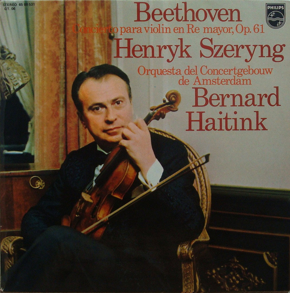 LP - Szeryng/Haitink: Beethoven Violin Concerto - Spanish Philips 65 00 531