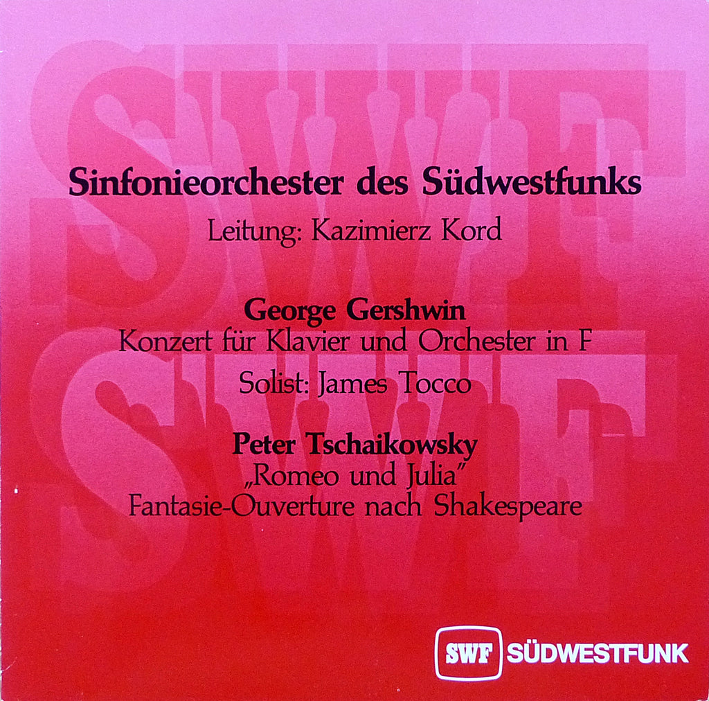"Tocco/Kord: Gershwin Piano Concerto in F (""live""), etc. - SWF 87"