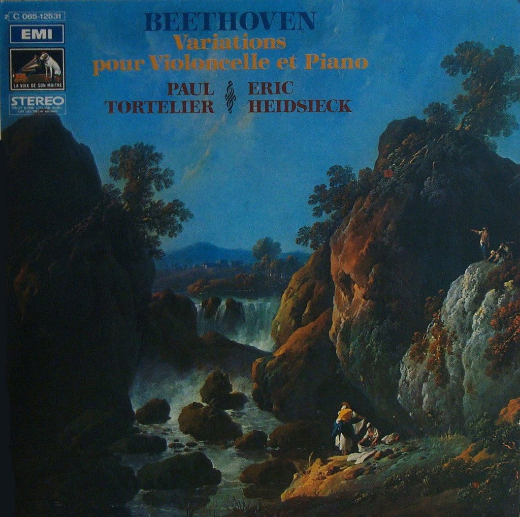 "LP - Tortelier: Beethoven Variations For Cello / Heidsieck: ""Eroica"" Variations - EMI 2 C 065-12531"