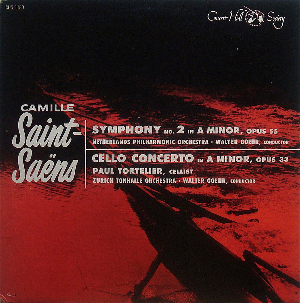 LP - Tortelier: Saint-Saëns Cello Concerto No. 1, Etc. - Concert Hall Society CHS-1180