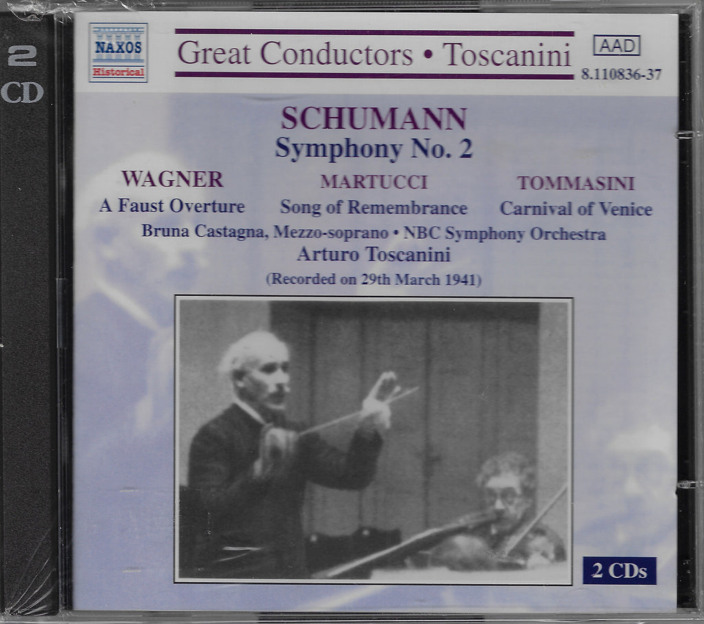 Toscanini: Schumann, Martucci, et al. - Naxos 8.110836-37 (2CD set, sealed)