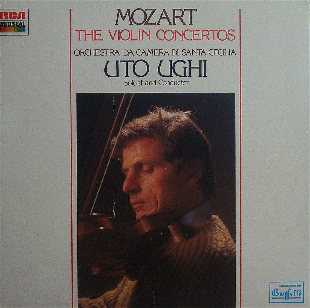 LP - Ughi: Mozart Compl Works For Violin & Orchestra - RCA Italy RL 71007 (3LP Box, DDD)