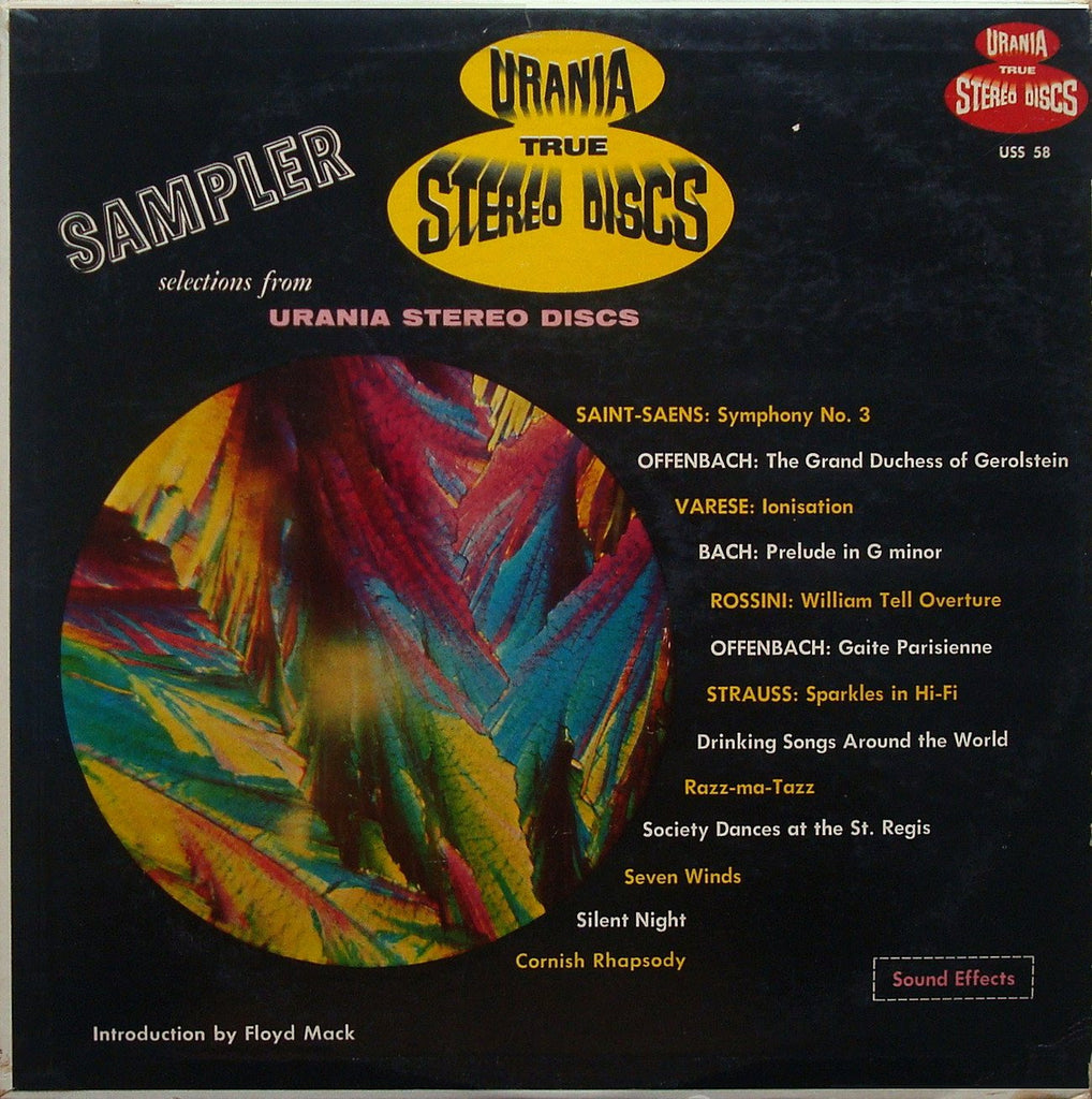 LP - Urania Stereo Sampler Disc: Varese, Bach, Rossini, Offenbach, Strauss - Urania USS 58