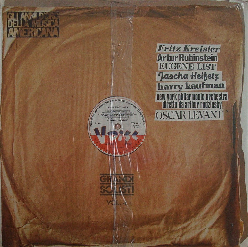 LP - Great Soloists On V Discs (Heifetz, Kreisler, Et Al.) - RCA VDL 1019 (sealed)