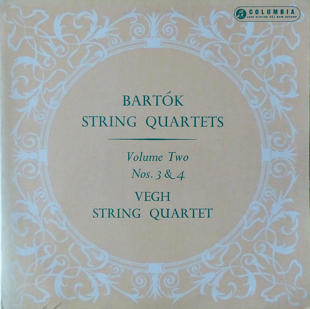 Vegh Quartet: Bartok String Quartets Nos. 3 & 4 - Columbia 33CX 1267
