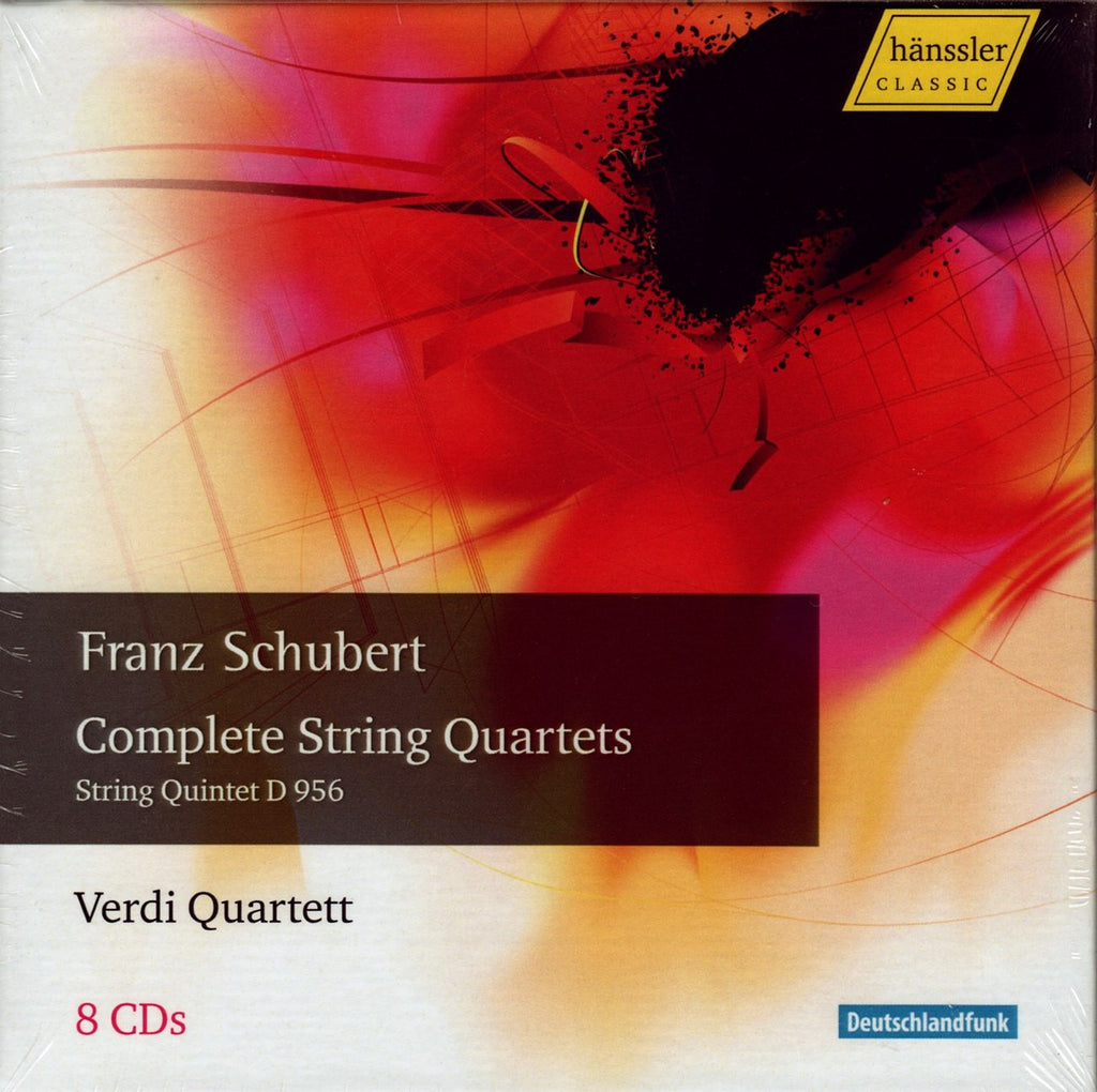 CD - Verdi Quartet: Schubert Compl. SQ + Quintet D. 956 - Hanssler CD 98.546 (8CD Set) (sealed)