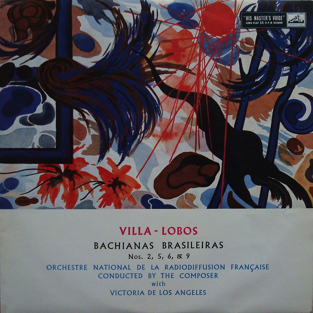 LP - Villa-Lobos: Bachianas Brasilieras 2, 5 (with Los Angeles), 6, 9 - HMV ALP 1603