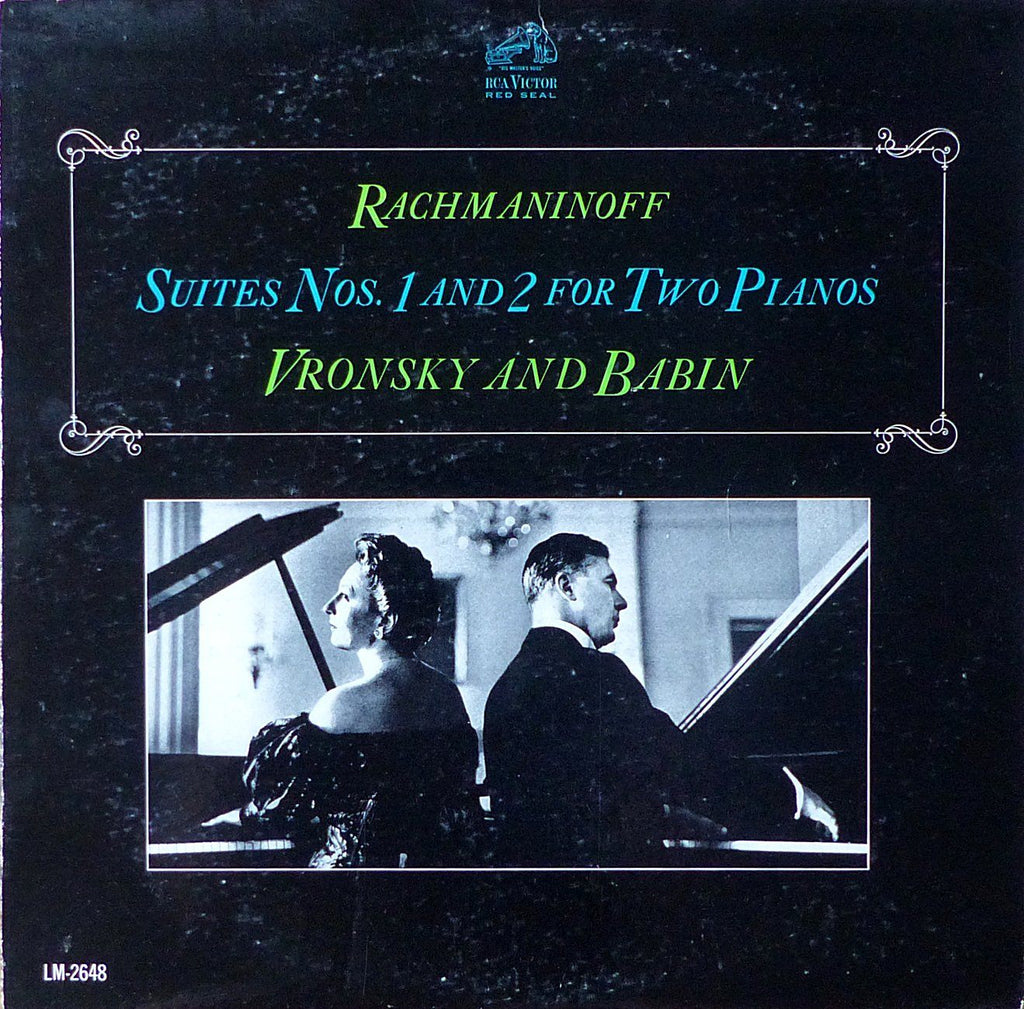 Vronsky & Babin: Rachmaninoff 2 Suites for 2 Pianos - RCA LM-2648