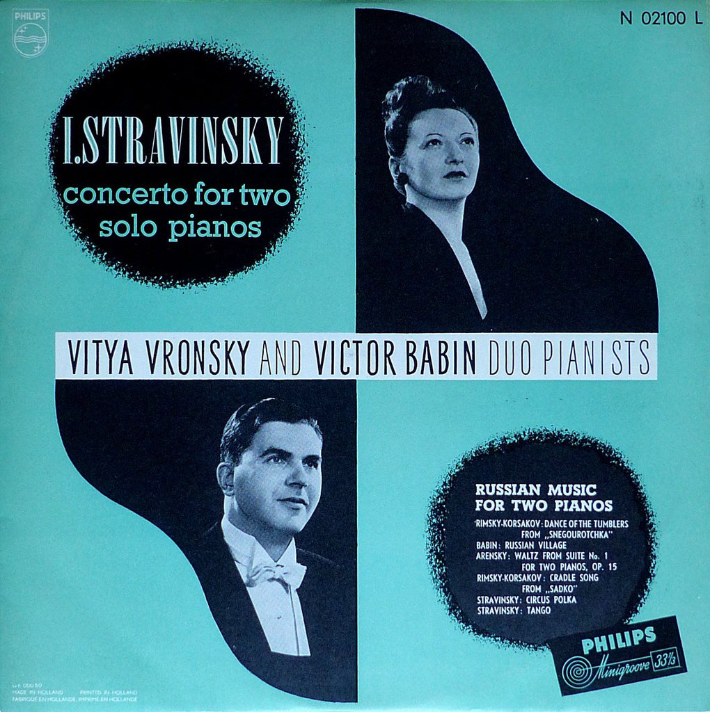 Vronsky & Babin: Russian Music for Two Pianos - Philips N 02100 L