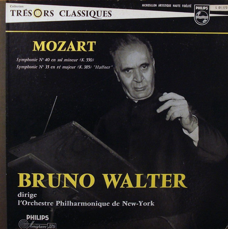 LP - Walter/NYPO: Mozart Symphonies Nos. 35 & 40 - Philips L 01.173 L, Beautiful Copy