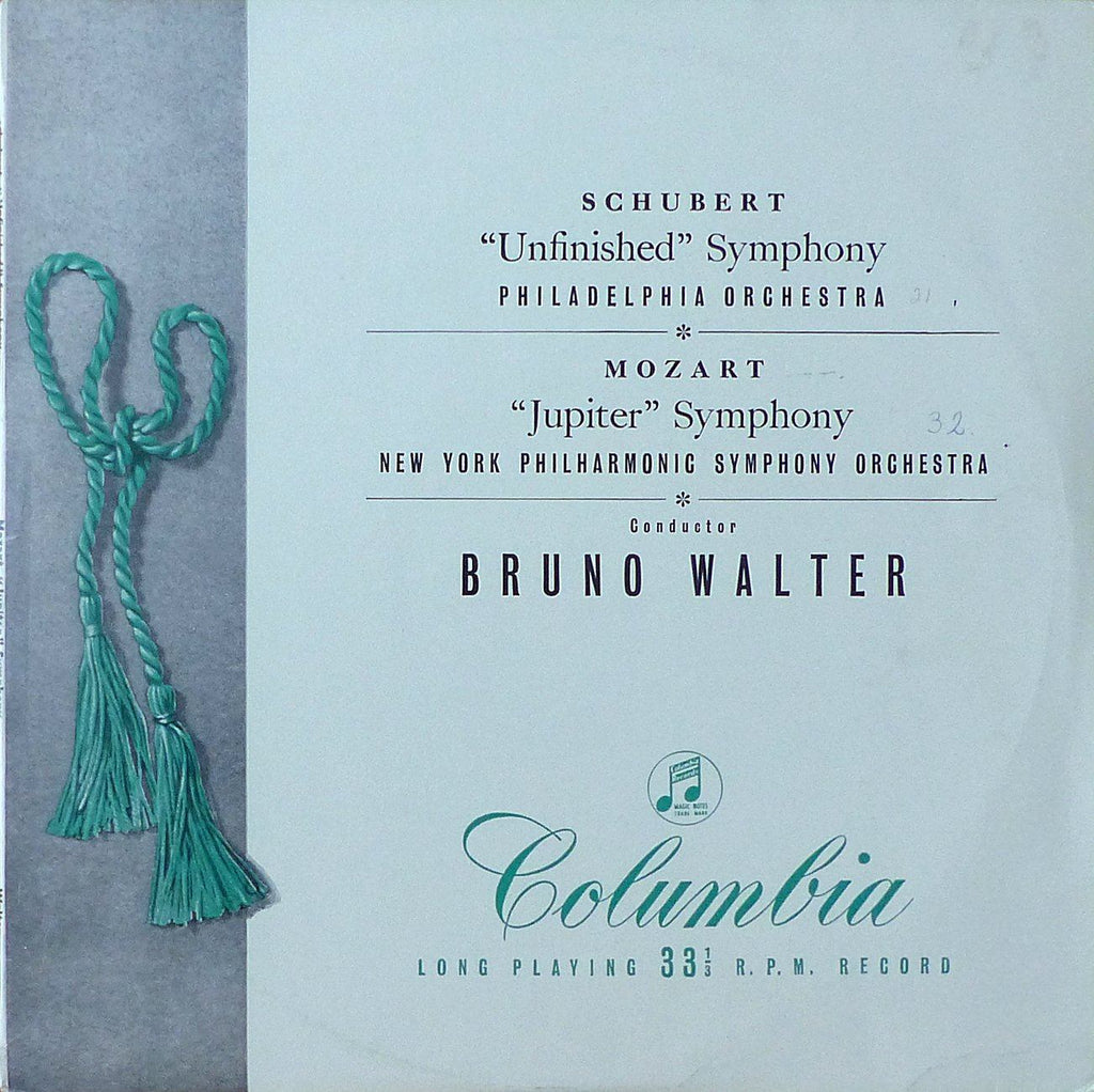 Walter: Unfinished (Philadelphia O) & Jupiter (NYPO) - Columbia 33CX 1082