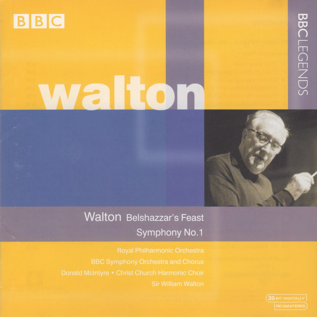 CD - Walton Conducts Walton: Sym No. 1, Belshazzar's Feast - BBC Legends BBCL 4097-2