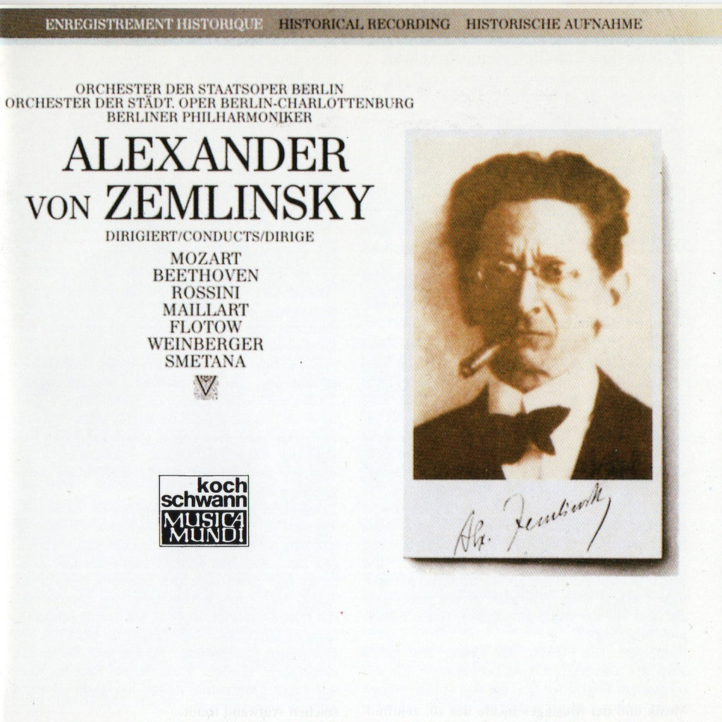 CD - Zemlinsky: The Conductor (rare Historical Recordings) - Koch CD 310 037 H1