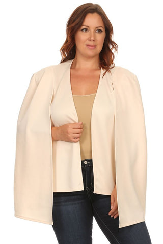 Open Sleeve Blazer in Beige