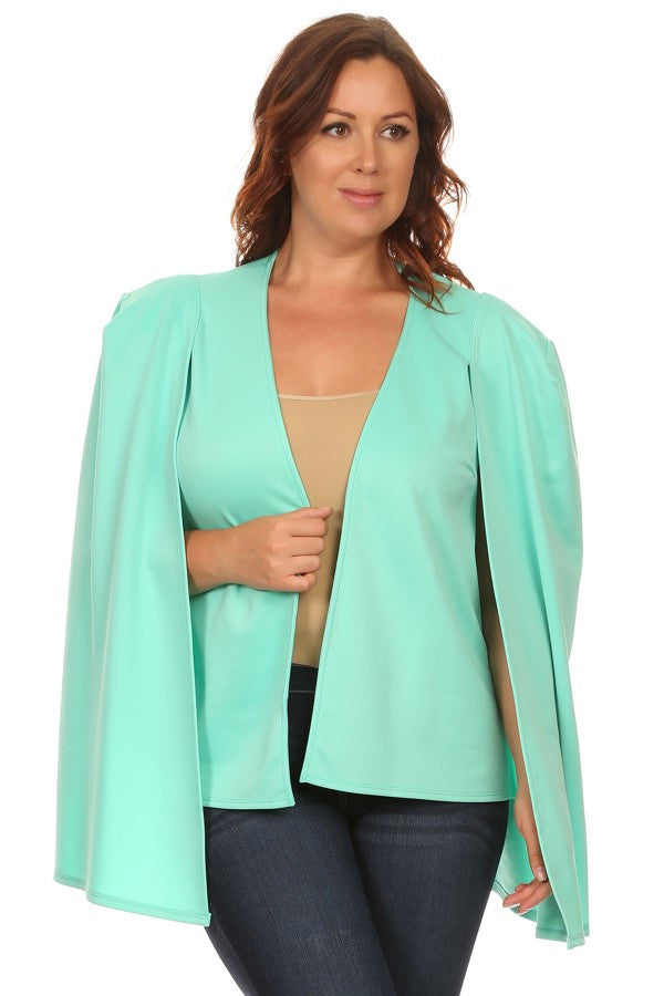 Open Sleeve Blazer in Aqua