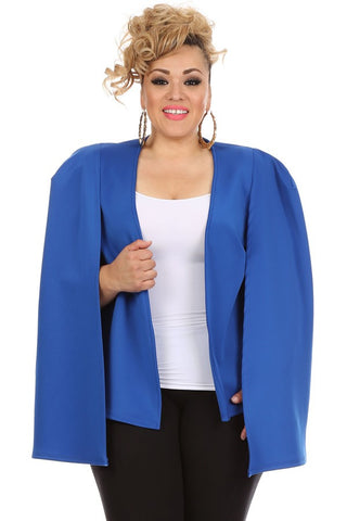 Open Sleeve Blazer in Blue