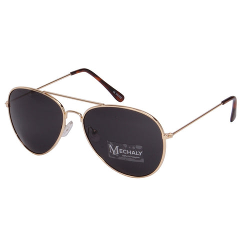 Mechaly Aviator Style Gold Sunglasses