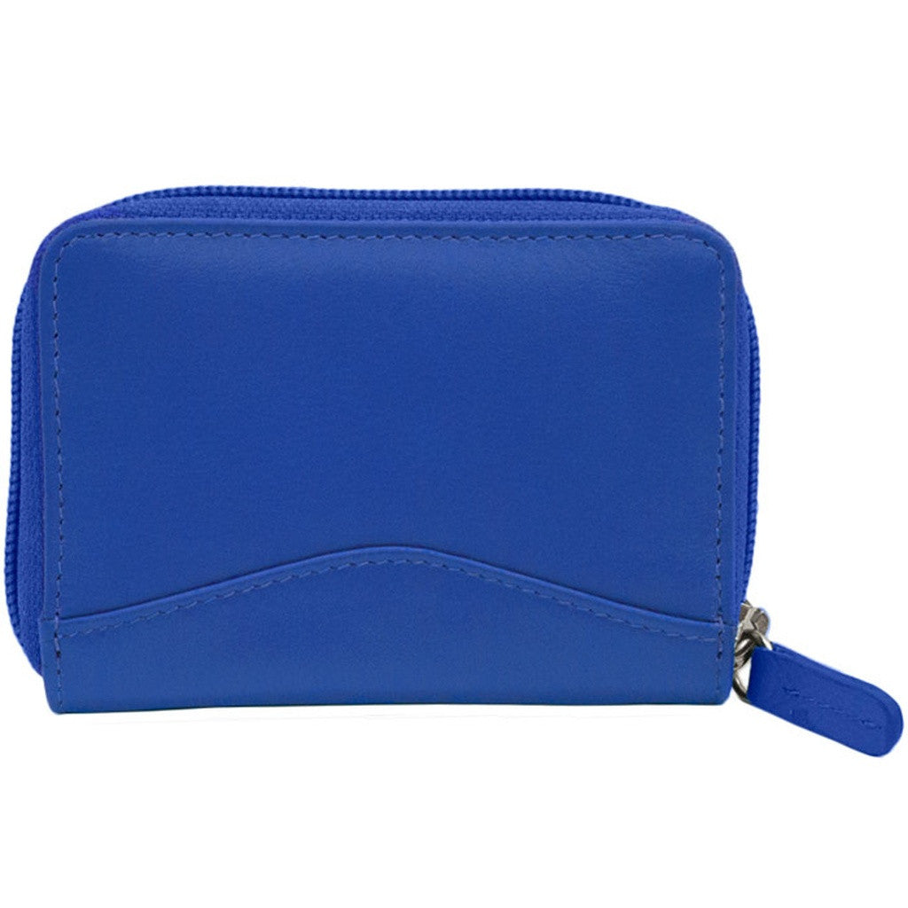 RFID Blocking Accordian Leather Credit Card Holder - Cobalt - House of Ke'Chic