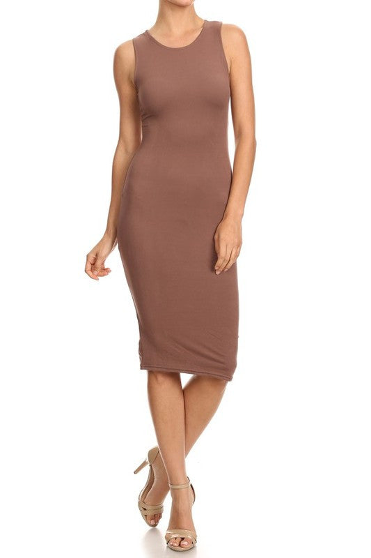Tank Dress in Taupe