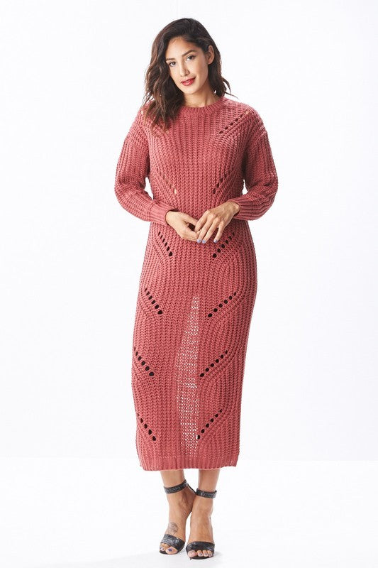 Olivia Ripped Back Sweater Dress