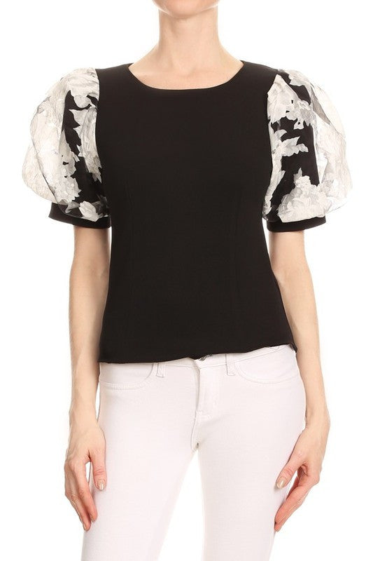 Norene Blouse in Black