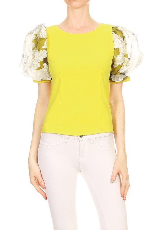 Norene Blouse in Lime