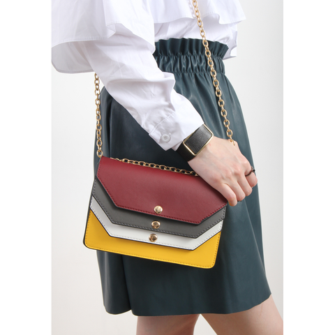Korean Multi-Color Envelope Faux Leather Bag