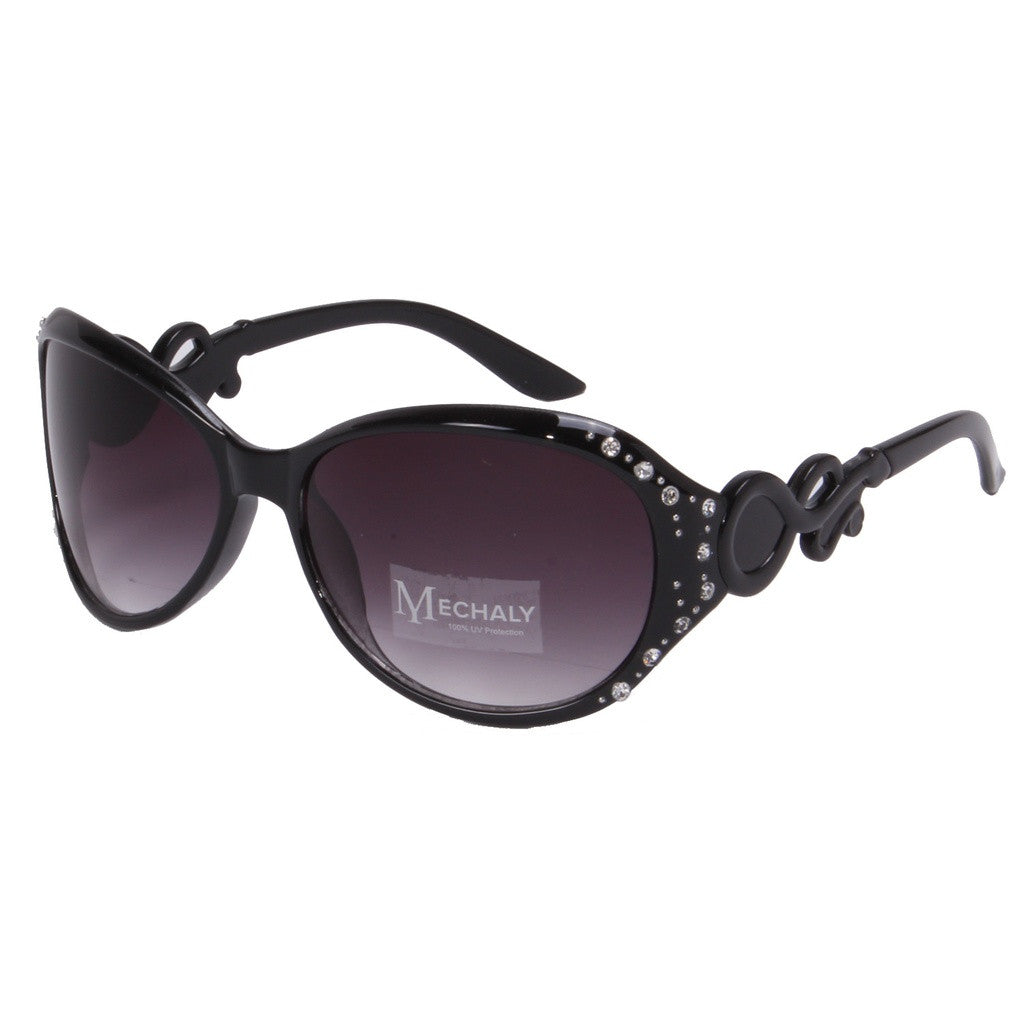 Mechaly Oval Style Black Sunglasses - House of Ke'Chic