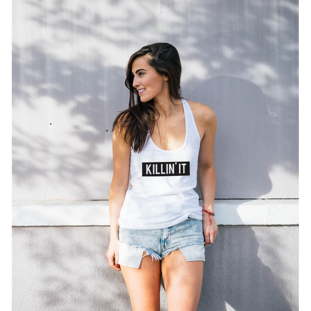 Killin' It Typography Flowy Racerback Tank Top - House of Ke'Chic  - 1