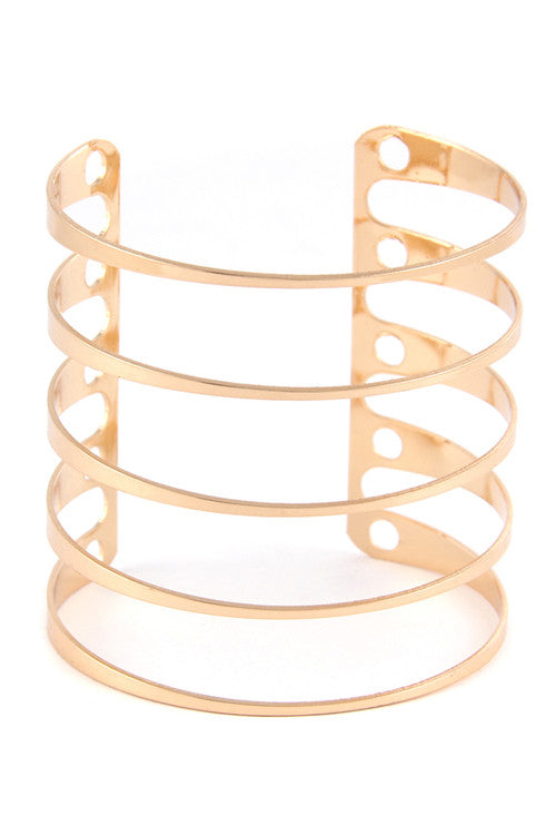 Gold Line Bracelet - House of Ke'Chic