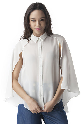 Caped Blouse