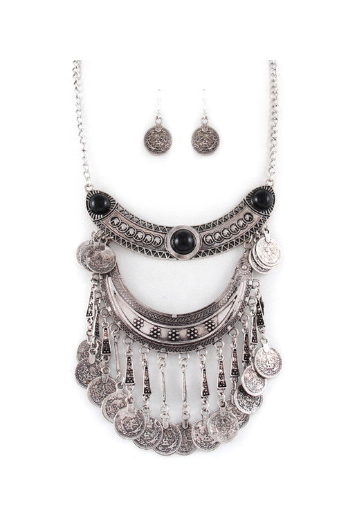 Coined Necklace - House of Ke'Chic