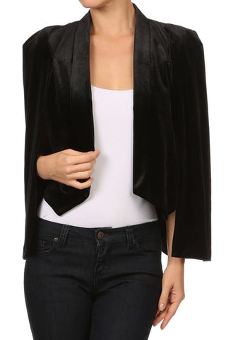 Open Sleeve Blazer in Black
