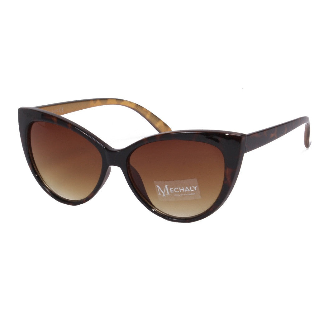 Mechaly Cat Eye Style Brown Sunglasses - House of Ke'Chic