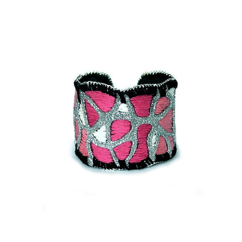 Happy Blush Cuff Bracelet (silver color)