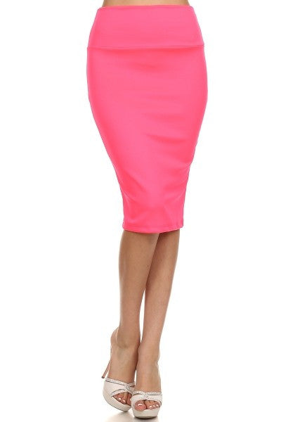 Midi in Neon Pink - House of Ke'Chic