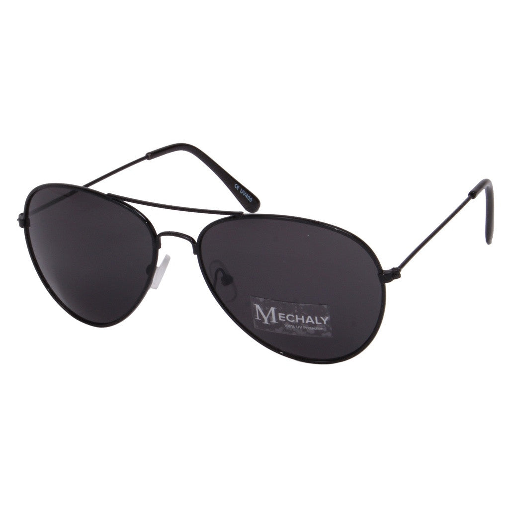 Mechaly Aviator Style Black Sunglasses - House of Ke'Chic