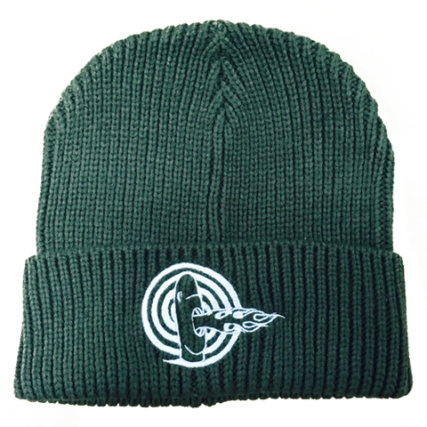 Fire Breathing Tiki Heavyweight Rib Knit Cap