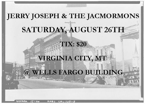 Virginia City, MT - Saturday, August 26 Ticket