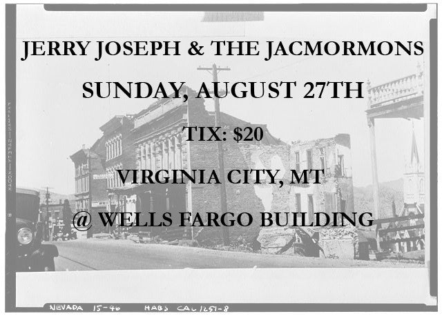 Virginia City, MT - Sunday, August 27 Ticket