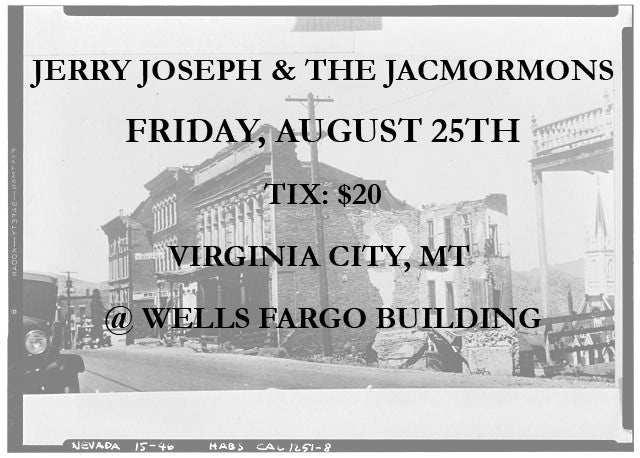 Virginia City, MT - Friday, August 25 Ticket