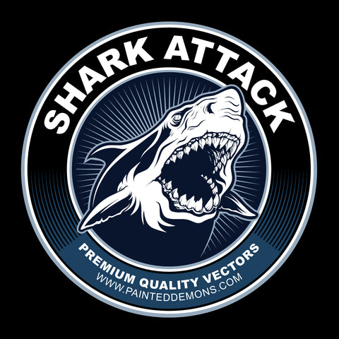 Shark Attack (Vector Art)